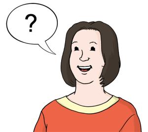 Frau mit Sprechblase